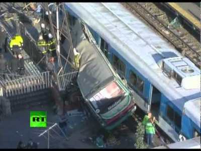Train-Bus colliision in Argentina
