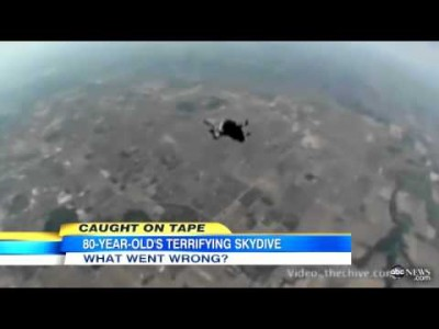 Skydiving Goes Wrong: 80-Year-Old Granny Falls Out Of Harness