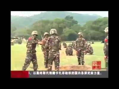 Chinese soldiers pass around LIVE GRENADE!