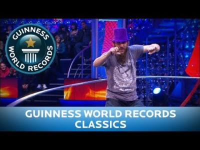 Giant Hula Hoop, most Rotations in a Minute – Guinness World Records Classics