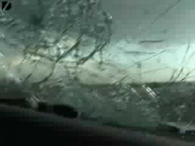 Hailstorm Destroys a Car!