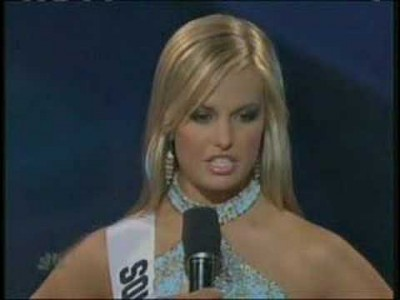 Miss Teen USA 2007 – South Carolina answers a question !