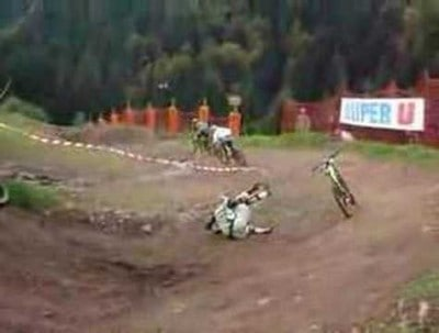 Bike Finishes Race without Driver!