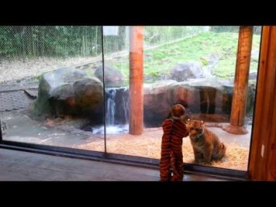 Marshall and Kali at the Point Defiance Zoo in Tacoma, WA