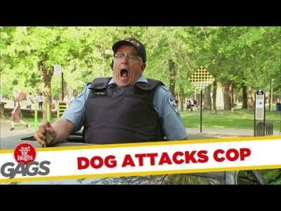 Dog Attacks Cop Prank