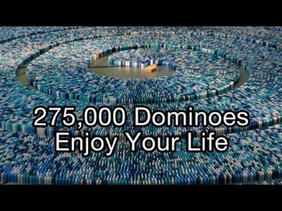 275,000 Dominoes – (Guinness World Record – Most Dominoes Toppled in a Spiral)