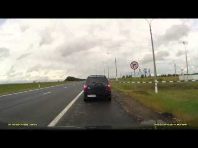 Car Flies into Oncoming Traffic