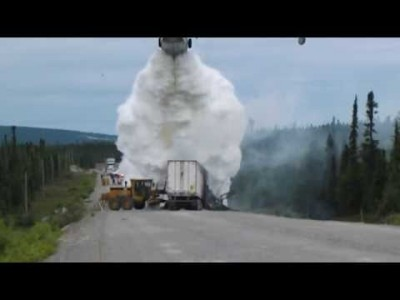 Water Bombing – Highway Truck Fire