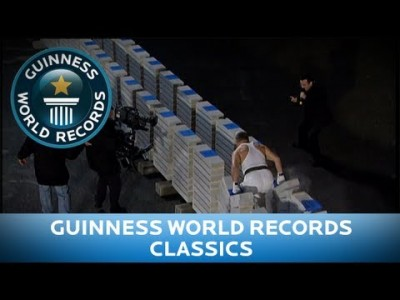 Most Concrete Blocks broken by HAND! – Guinness World Records Classics