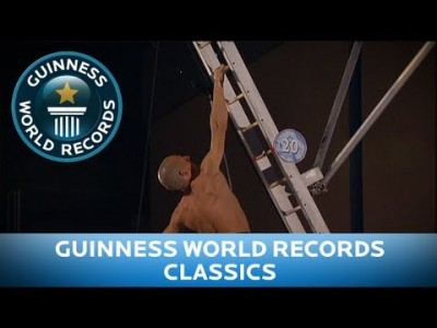 One Handed Ladder Climb?! – Guinness World Records Classics