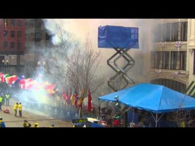 Two Explosions Hit End of Boston Marathon