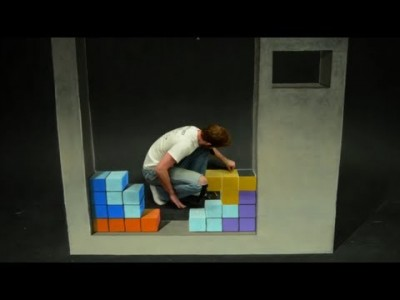 Stop Motion Chalk Art: TETRIS