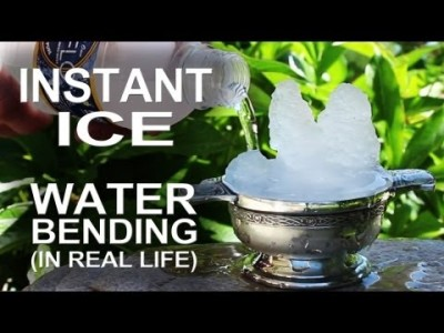 Instant Ice – Waterbending In Real Life