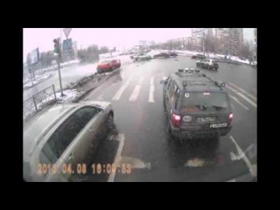 Two Cars Crash at an Intersection