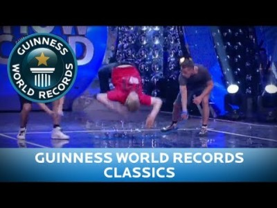 Fastest 20 m performing the worm over a Jump Rope – Guinness World Records Classics