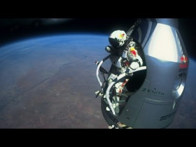 Felix Baumgartner's supersonic Freefall from the edge of Spae