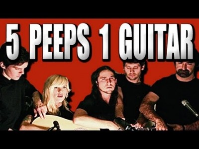 Five People Playing one Guitar!