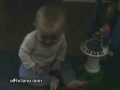 Baby Gets Scared of his own Fart