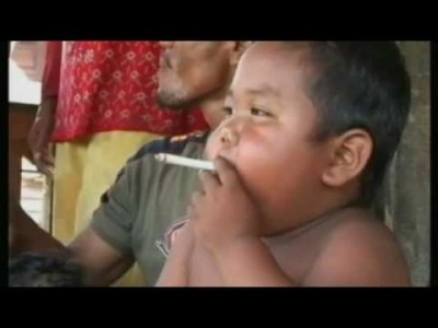 Indonesian Baby Boy Smokes 40 Cigarettes A Day