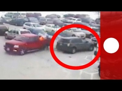 Car Park Fail: 92-year-old smashes into 10 other cars
