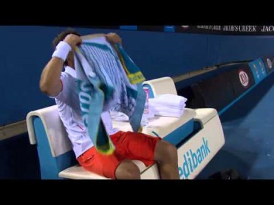 Four Tennis Racquets Broken in a Row on Court!