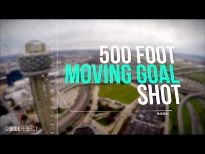 500 Foot Moving Goal Shot from Reunion Tower