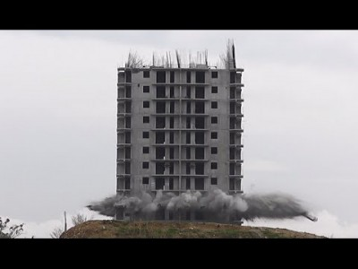 High Rise Demolition Fail caught on Camera in Russia