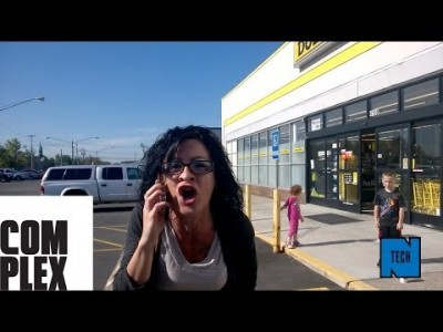 Racist Woman repeatedly calls man an N-Word in front of Kids