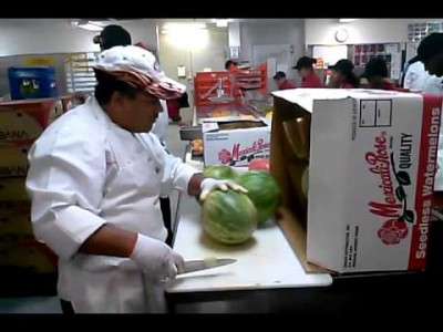 High Speed Watermelon Cutting