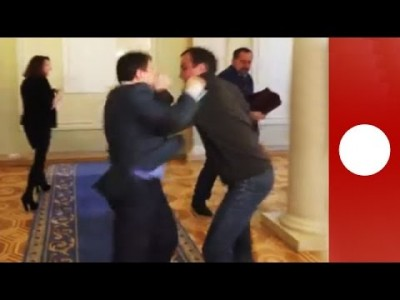 Ukraine Parliament Mass Punch Up 2014