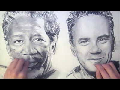 Drawing with Two Hands Simultaneously – Brilliant !