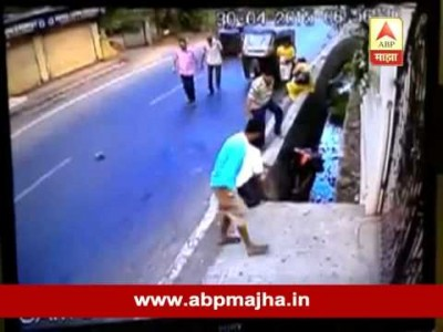 Mumbai : Vasai Bike Accident CCTV Footage