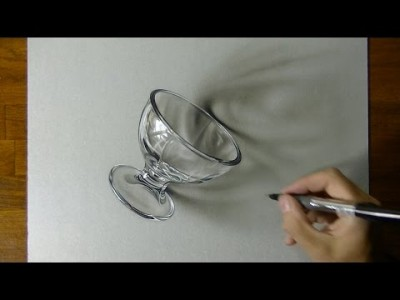 Drawing a Glass – 3D Art