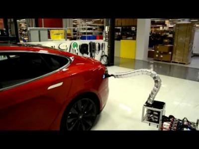 Charger prototype finding its way to Model S